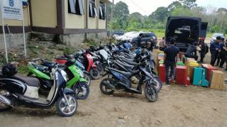 34 Unit Mesin Dingdong dan 21 Sepeda Motor Diamankan  Polres Muratara Saat Operasi Penyakit Masyarakat