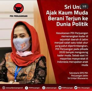 Sekretaris DPD PDI Perjuangan Jatim Ajak Kaum Muda Terjun Ke Politik
