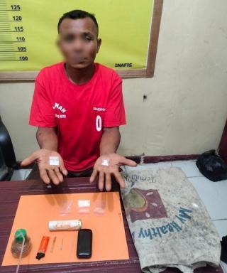 Dilaporkan Mencuri, Pria di Ujung Batu ini Justru Kedapatan Gunakan Narkoba