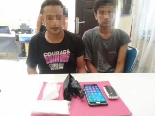 Dua Pelaku  Narkoba Ditangkap Aparat Polres Kampar di Salo