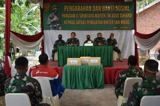 Pangdam ll/Sriwijaya Cek Pos SKK Migas di Muaro Jambi