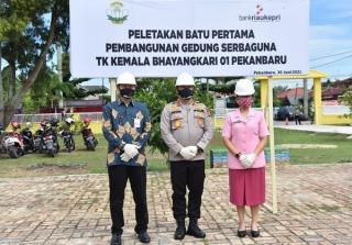 Wow ! Bank Riau Kepri Ternyata Sudah Kasih CSR ke TK Bhayangkari Polda Riau
