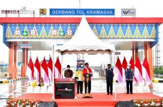 Ruas Tol Kayu Agung - Palembang  Diresmikan, Pangkas Jarak Bakauheni - Palembang Hingga 75 Persen