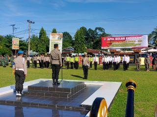 Operasi Patuh 2021 Resmi Dilaksanakan Hingga 3 Oktober, Polres Kampar Laksanakan Gelar Pasukan Operasi Patuh Lancang Kuning 2021