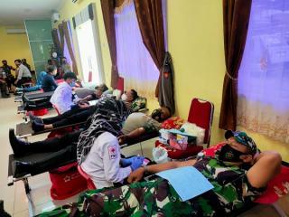 Peringati Hari Bhayangkara ke-75, Polres Kampar Gelar Aksi Donor Darah