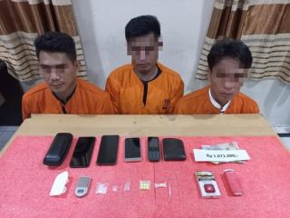 Polres Inhil Amankan Tiga Pelaku Terduga Pengedar Sabu dan Ekstasi lintas Kecamatan