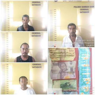 Polres Rokan Hulu Tangkap Pelaku Judi di Simpang ABC, Dua Orang Berhasil Kabur