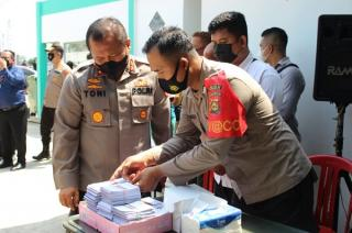 Kapolda Sumsel Hadiri Serbuan Vaksin dan Bakti Sosial Nusantara AKABRI 98 NAWAHASTA