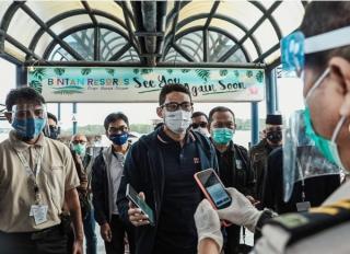 Menparekraf Tinjau Kesiapan Konsel Travel Bubble di Bintan