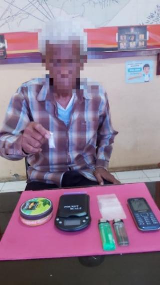 Kakek 66 Tahun Diduga Pengedar Sabu Ditangkap Aparat Polsek Keritang