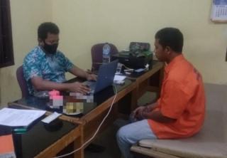 Seorang Pengguna Sabu di Desa Sungai Pinang Diamankan Tim Polsek Tambang