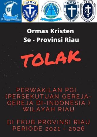 Sebut Tak Cerminkan Keterwakilan Umat Kristen, Ormas Kristen se Riau Tolak Perwakilan Kristen di FKUB Riau
