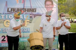 Luncurkan Batam Golf Championship Series 2021, Sandiaga Berharp Mampu Geliatkan Sektor Parekraf