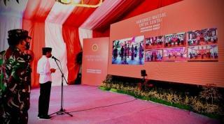 Presiden Apresiasi Dukungan Ponpes terhadap Program Vaksinasi Covid-19
