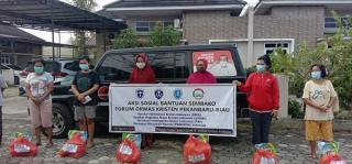 Ormas Kristen Riau Bagikan Sembako, Lantaran Bantuan PPKM Tak Kunjung Turun