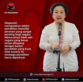 Megawati: Tidak ada Negara Besar Tanpa Ditopang Badan Penelitian yang Kuat