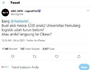 Viral, Ketua DPP Demokrat Disebut Danai 1200 Mahasiswa Universitas Pamulang Demo 24 Juli 2021